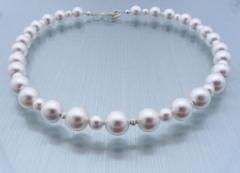 Kleiner Stern - Perlenkette und Ohrringe