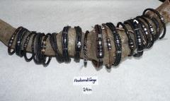Herren Leder Armbänder 21 cm lang