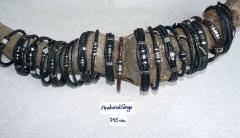 Herren Leder Armbänder 21,5 cm lang
